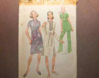 Vintage Simplicity Dress Pattern 9256 - Size 12 - FREE US SHIPPING