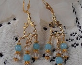Beth's Treasures - Aquamarine Chandelier Earrings