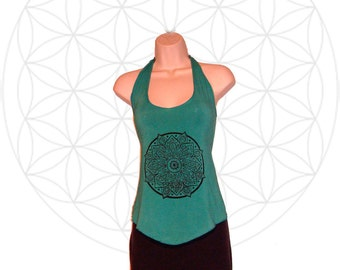 Mandala Halter Top made from organic cotton and bamboo jersey
