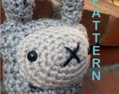 PATTERN Crochet Amigurumi Bunny Rabbit in Pajamas
