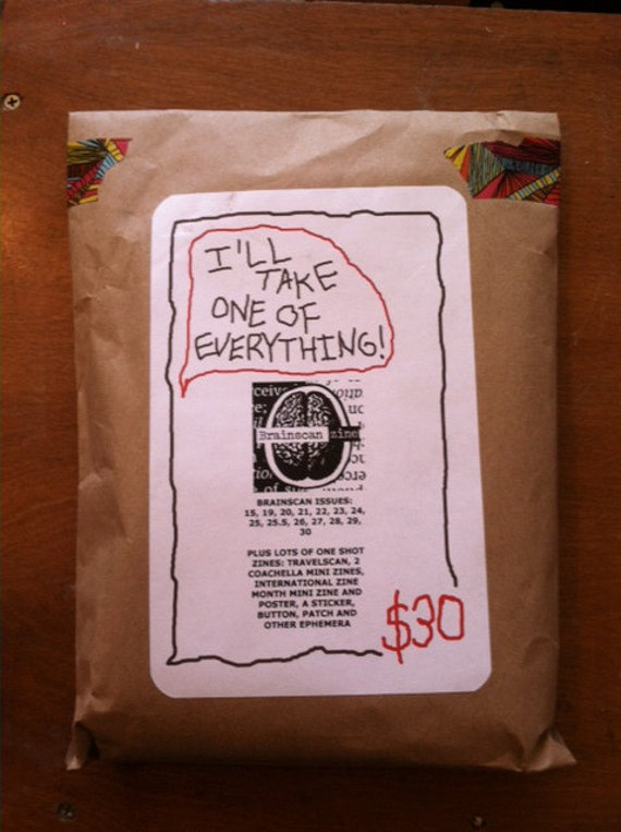 Brainscan Zine - I'll take one of everything!