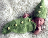 Knitting Pattern - Pea Pod Baby Cocoon + Bobble Tutorial - Fast Easy DIY
