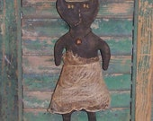 "Primitive Halloween Cat, Rustic Black Cat, Primitive Doll, Primitive Folk Art, ""Belle"""
