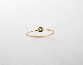 14k Yellow Gold Gemstone Ring