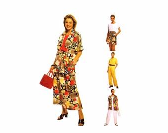 Womens Shirt Pattern Kimono Sleeve Top Skirt Pants Shorts McCalls 2567 Sewing Pattern Size 10 -12 - 14 Bust 32 1/2 - 34 - 36 UNCUT
