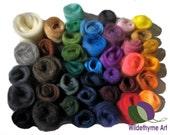 Needle Felting Kit, Craft Kit, DIY, Deluxe / Gift Packaging or extra fiber, roving options, wool craft kit