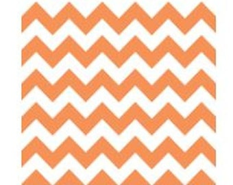 Orange Chevron Fabric