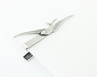 Silver Bird Tie Bar