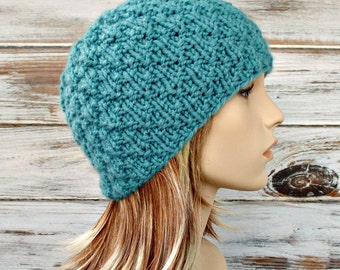 Instant Download Knitting Pattern - Womens Hat Pattern Mens Hat Pattern Knit Hat Pattern - Iotla Valley Beanie Pattern Womens Beanie