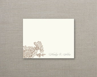 Caroline Personalized Note Cards - SET OF 25 Cards