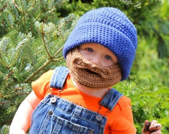 Beard Hat Beanie Custom Order in your choice of Colors Urban Gift Hat Cap Adult and Child