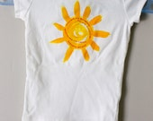 cute girls shirt,cotton girls t-shirt, sunshine shirt, you are my sunshine, t-shirt with sun, t-shirt with song