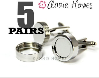 Cuff Links for the Wedding Party. DIY Wedding Cuff Links.. Easy to Make. Great for Grooms and Groomsmen.