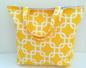 CLEARANCE - Beach Bag - Tote Bag Canvas - Book Bag - Teacher Gift - Shopping Tote - Reusable Grocery Bag - Cute Tote - Canvas Tote - Yellow