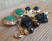 Big Bad Bold 80s Clip On Earrings — LOT of 5 PAIRS