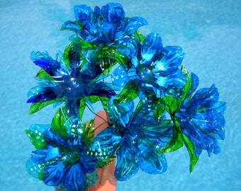 Eco Friendly Flowers One Dozen in Your Choice of Colors Upcycled from Plastic Water Bottles