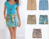 Uncut New Look E6030 classic skirt pattern, Size A (4-16)