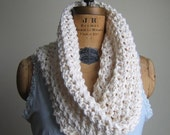 Instant Download Chunky Knit Organic Cotton cowl PATTERN