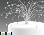 Fireworks Cake Topper Wedding Cake Crystal Spray Swarovski Crystal Elements CUSTOM Anniversary New Years Patriotic July 4th
