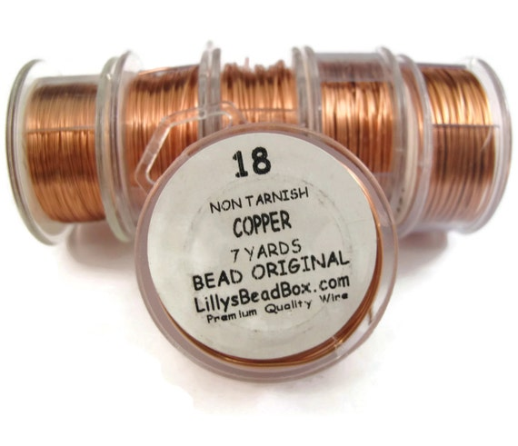 Natural Copper Wire, Genuine Copper, 18 Gauge Round Wire for Making Jewelry, Non Tarnish Wire, Wire Wrapping Supplies