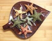 Primitive  Fall Woodland   Star Bowl Filler Decorations