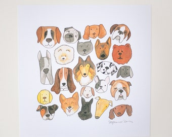 dog lover giclee print woof