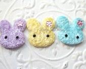 FUZZY Bunny Baby Bow/ Baby Snap Clips / Itty Bitty Newborn Clip or Headband / Toddler Girls Bows / No Slip Hair Clip or Elastic Headband