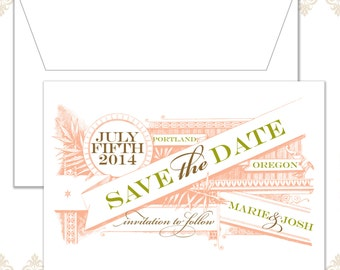 Vintage Banner Save the Date