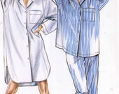 Womens nightshirt pajamas pattern nightshirt or pajamas sewing pattern New Look 6497 Size 8 to 20 UNCUT