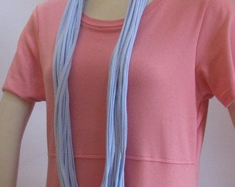 Light Blue Jersey Infinity Scarf Handmade by Fashion Green T Bags