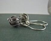 Handmade Bali Silver Bead Earrings, Sterling Silver Dangle Earrings, Silver Earrings, Balinese Earrings, Bali Earrings