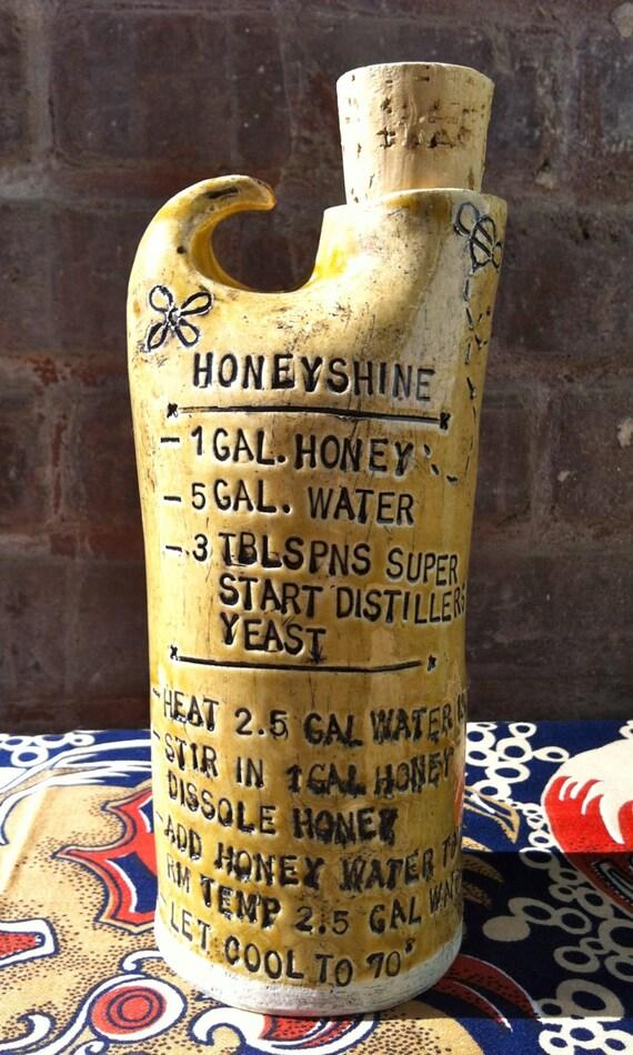 Golden Honey Shine Moonshine Pottery Jug