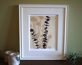 Botanical print - Summer Weeds - Ready to frame - 8x10 or 16x 20