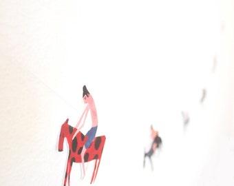 Mini paper Bunting Garland DIY Kit - Funny People Riding Funny Animals