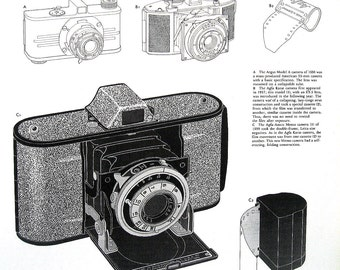 Camera Print - The 35 mm Camera - Vintage Book Page - 1978 Book History of Cameras