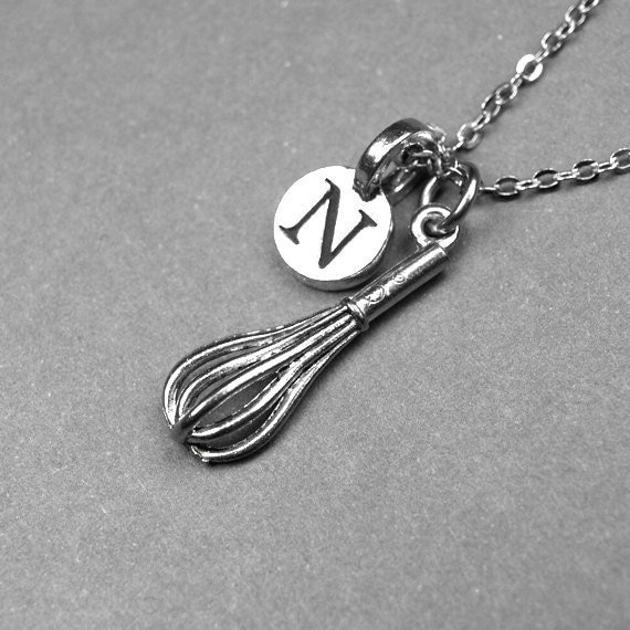 whisk necklace mixer necklace kitchen whisk antiqued