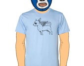 Flying Chihuahua Mens T-Shirt S, M, L, XL in 7 Colors