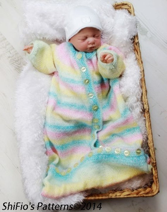 KNITTING PATTERN For Baby Sleeping bag in 2 Sizes PDF 207
