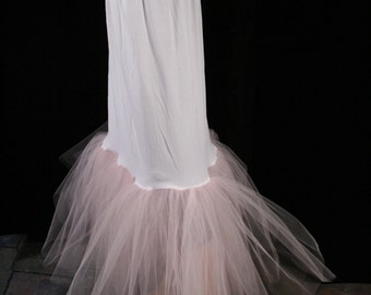 Fishtail petticoat baby pink wedding underskirt trumpet slip puff bride bridal formal dance - You choose size -- Sisters of the Moon