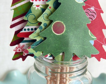 Christmas Cupcake Toppers  Trees