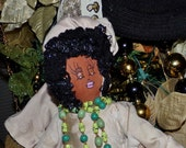 SALE- SALE Original Sha Bebe Cloth Doll Made by Cajun Doll Artist, Mary Lynn Plaisance in  Louisiana. Art doll collectibles~~!!!