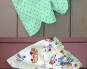 Girls Shorts Pattern Reversible Scalloped sizes 12m - 16 girls PDF  Instant