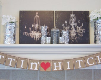 gettin hitched banner wedding signwedding bannergetting