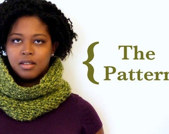 KNITTING PATTERN - Delightful Cowl - Easy Knitting Pattern