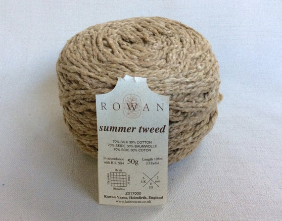 Knitting Patterns For Rowan Summer Tweed : Disconitued Yarn Lot: Rowan Summer Tweed Silk and Cotton