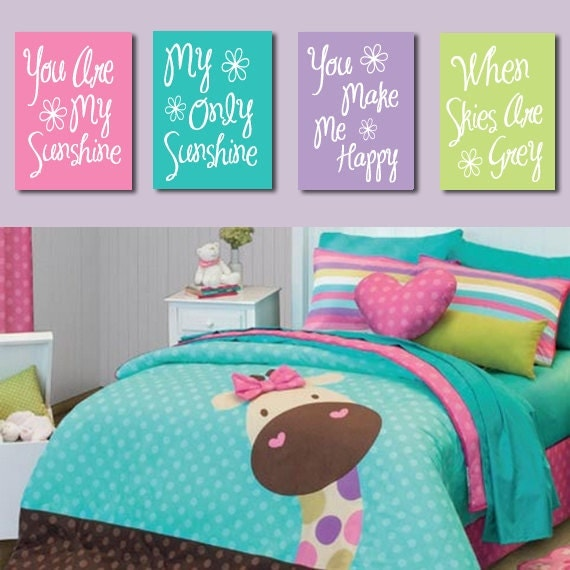 Items Similar To You Are My Sunshine Wall Art CANVAS Or Prints Pink Purple L