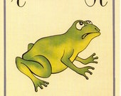 Alfabeto Italiano Flash Card - R for Rana (frog) to Frame or for Paper Arts PSS 1952
