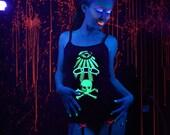 Glow in the Dark Odd Fellows Screenprint Spaghetti Strap Tank Top