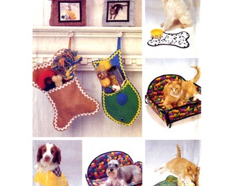 Butterick 6797 Cat And Dog Pet Accessories Sewing Pattern