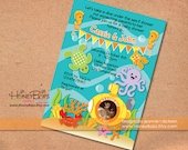 Under the Sea Personalized Printable Invitation - Birthday, Baby Shower Boy or Girl- Digital File